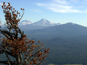 The Sisters, from Black Butte
